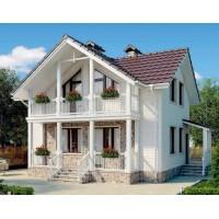 KD-012 - проект компактный дом с мансардой и балконом